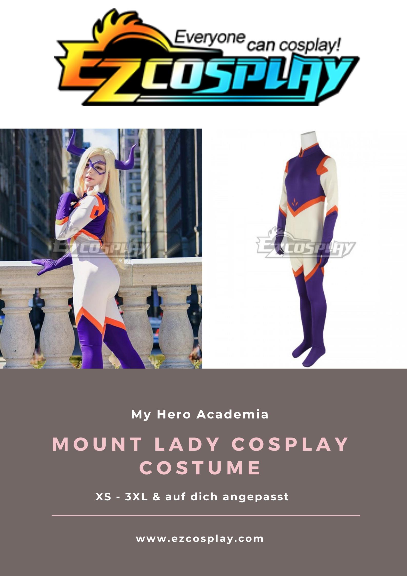 my hero academia mount lady cosplay costume